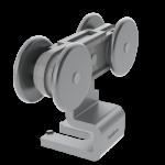 Herraje medio MPS-150 Aluminio