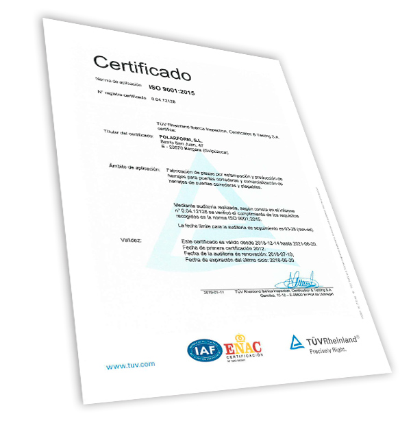 Polarform ISO-9001-2008